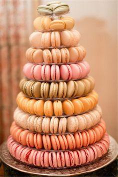 Stunning wedding macaron cake