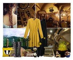 """""""hufflepuff"""" by lily15 ❤ liked on Polyvore featuring SOLD Design Lab, Tema, Donna Wilson, Slater Zorn, Bertie, Retrò, Mulberry, Dollhouse, harrypotter and hogwarts"""