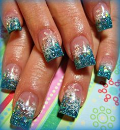 cool nails designs | Cool Snow Flake Nails Design