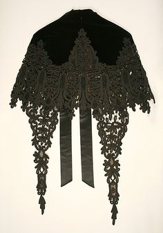 Cape.  House of Worth(French, 1858–1956).  Designer: Charles Frederick Worth (French (born England), Bourne 1825–1895 Paris). Date: 1880s. Culture: French.