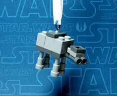 Items similar to AT-AT Walker Star Wars Christmas Ornament made from Genuine New LEGO (r) Pieces on Etsy Lego AT-AT Mini Christmas Ornament Lego Toys, Lego Duplo, Walker Star Wars, Star Wars Christmas Ornaments, At At Walker, Star Wars Crafts, Lego Craft, Lego Worlds, Lego Design