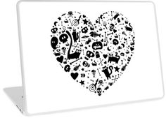 'Halloween Heart' Laptop Skin by Adrian Serghie Canvas Prints, Framed Prints, Art Prints, Laptop Skin, Duvet Covers, Classic T Shirts, Ipad, Greeting Cards, Halloween