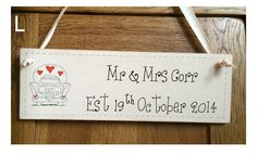 Wedding Plaques – Made To Order - Created by Crafty Magpie seller: Wood 'n' Things £5.99 plus delivery - http://www.craftymagpie.co.uk/products/wall-art-hanging-accessories-and-clocks/wedding-plaques-made-to-order/#.VPhIuuHJ4ng