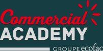 Basée sur les techniques de vente utilisées chez les anglo-saxons, la formation de commercial proposée par la Commercial Academy est la toute première de la sorte en France. Pris en charge par le Groupe Ecofac (école de commerce), cet entrainement à la fonction commerciale entend permettre à plus de 1000 personnes par an de devenir expert en vente (commercial).