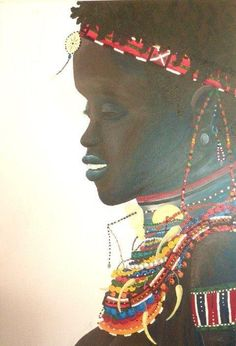 OrJAZmic Designs painting. African women portrait