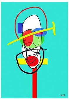 Taki Me Poe Toe by Sam Freek - Contemporary art prints for the modern home - #art #artprint #abstractart #portrait