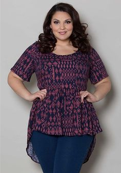Jolene Babydoll Top From The Plus Size Fashion Community At www.VintageAndCurvy.com