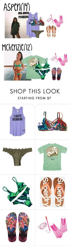 """Wednesday//last day + snorkeling//9.6.17"" by mayas-polyfam ❤ liked on Polyvore featuring Victoria's Secret, Hollister Co., Superdry, Havaianas, Speedo, mommyblogger and thetanakafam"
