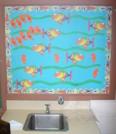 Music Classroom Bulletin Boards: Fish Scales