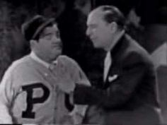 Classic!  Abbott and Costello's 'Who's On First' Skit