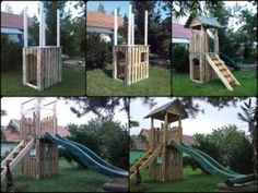 Pallet castle with chute