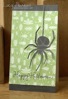 Created by Lucy Abrams for the Simon Says Stamp Wednesday Challenge with a Halloween theme.