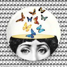 Butterflies Cavalieri melamine plate by TheMadPlatters on Etsy