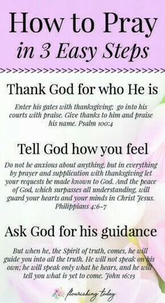 Do you struggle with how to pray everyday? Praying is simply talking to God and doesn't have to be complicated. Here are a few tips for beginners on how to pray to God daily. Prayer Times, Prayer Scriptures, Bible Prayers, Faith Prayer, Prayer Quotes, Bible Verses Quotes, Spiritual Quotes, Prayer To God, Bible Study On Prayer
