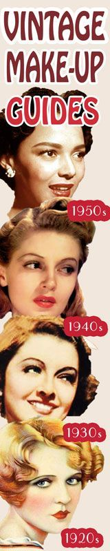 Vintage makeup how to from Glamourdaze. 1940s style makeup and fashion tips. #1950s #1930s #1920s