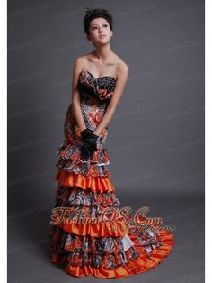 Beaded Decorate Bodice Sweetheart Neckline Printing and Taffeta Brush Train Mermaid Prom / Evening Dress For 2013- $208.49  http://www.fashionos.com  : 2013 popular prom dress for formal evening | summer collection | spring collection | fitted floor length prom dress | where you can order prom dress | sweetheart beaded prom dress | customer made prom dress | discount prom dress on sale | affordable prom dress on sale | fitted prom dress with brush train |