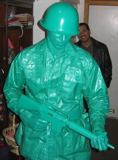Whoa!  Cool costume!  So any guesses what he's covered in???