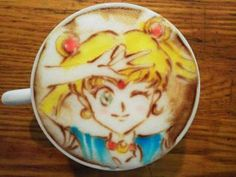 Take a #coffee and have a nice day ! #Anime #Manga #latteart #SailorMoon