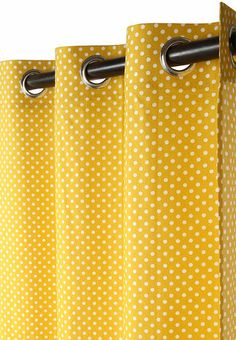 Svelte 100% Cotton Eyelet Curtain By Hermoso ( Yellow )
