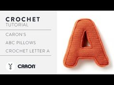 Knitting Patterns Pillow How to Crochet A Pillow Letter A Crochet Pouf, Crochet Pillow, Crochet Letters, Caron Simply Soft, Pillow Tutorial, Free Pattern, Knitting Patterns, Lettering, Pillows