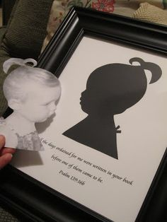 The Keylor Family: How to Make Silhouette Art