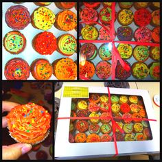 Fiesta Theme Cupcakes. Made by Wendy Garcia.