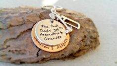The Best Dads get Promoted to Grandpa is Hand Stamped on this Keychian! There is also 2 charms that go with the Keychain. You have a collection