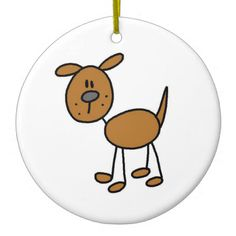 Stick Figure Dog T-shirts and Gifts Christmas Ornament
