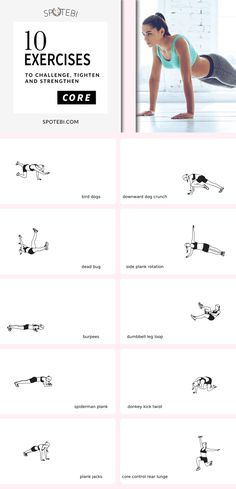 Slim down your Waist and Flatten the Belly with the help of this 18-minute CORE WORKOUT! https://www.spotebi.com/workout-routines/core-workout-women-best-exercises-challenge-tighten-strengthen/