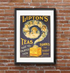 Lipton's Tea  Vintage Poster Art Deco by MarksVintagePosters