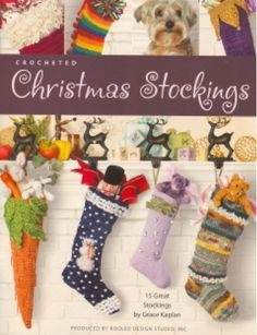 Using Grace Kaplan's variations on a simple stocking pattern, you can crochet fabulous Christmas stockings for everyone on your gift list. Different yarn sizes, weights, and textures change the look of the basic single crochet design, giving each stocking its own personality and flair. Added embellishments -- appliqués, beads, bells, and bows -- offer more options for creating unique stockings that everyone will love.