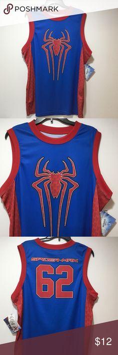 d4d5f86ebddd Spider-Man Basketball Jersey Men s Size L NWT Spider-Man Basketball Jersey  Men s Size