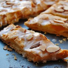 Scandinavian Kringle recipe - The flaky crust, cream puff layer and almond  frosting combine for an outstanding pastry.  Do not make too far in advance.  The night before is fine...no sooner though.