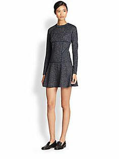 Thakoon Addition - Paneled Knit Tweed Dress