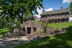 """Pinned from www.archerbuchanan.com: """"Anderson Place"""" c. 1714  #architecture #colonial #stonehouse"""