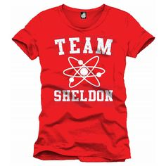 Tee-Shirt Rouge Team Sheldon The Big Bang Theory