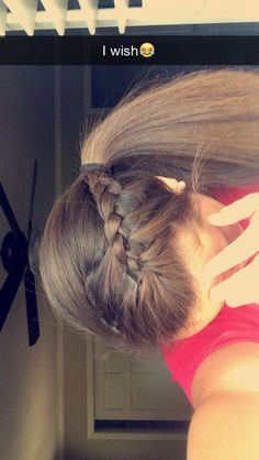 Quick easy volleyball hair.