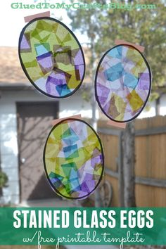Stained Glass Eggs w/free printable template