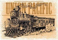 old railway: máquina de vapor velho do oeste selvagem