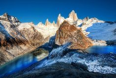 Two glacial lakes in the southern Andes (photo by Tray Ratcliff)