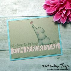 Elephant for your Birthday Mft Stamps, It's Your Birthday, Cardmaking, Card Stock, My Favorite Things, Elephant, Blog, Paper Crafts, Create