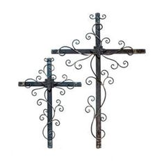 Wrought iron crosses...
