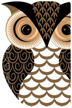 Patterned-Owl by Johanna Parker Design, via Flickr