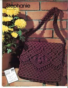 Stephanie Macrame Bags Design Handbag Designs Purse Patterns Bag How To Instruction Pattern Book Vintage Retro PDF Macrame Purse, Macrame Jewelry, Handbag Tutorial, Designer Handbags On Sale, Designer Purses, Cheap Designer, Discount Designer, Guess Handbags, Cheap Handbags