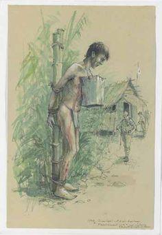 Drawing from Jack Walker: Burma Railway - The Original War Drawings of Japanese POW