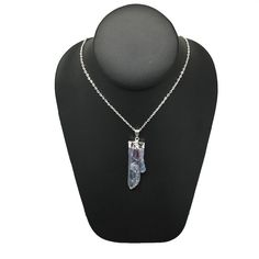 """Kyanite Blade Amethyst Silver Plated Pendant,Free Silver Plated 18"""" Chain,Bp499"""