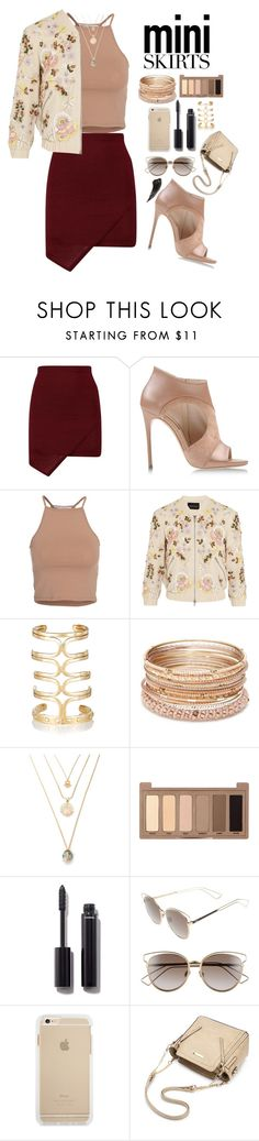 """""""Mini"""" by ragelove ❤ liked on Polyvore featuring Casadei, NLY Trend, Needle & Thread, Aurélie Bidermann, Red Camel, Urban Decay, Chanel, Christian Dior and MINISKIRT"""
