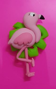 Cute Polymer Clay, Fimo Clay, Polymer Clay Charms, Flamingo, Clay Classes, Jumping Clay, Cake Topper Tutorial, Clay Figures, Paper Clay
