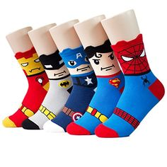 Socksense Super Heros Series Womens Socks 5pairs5color1pack Made in Korea *** You can find more details by visiting the image link.