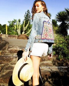Our beautiful handmade jackets look stunning in this months @fashion_weekly_mag. Grab your beautiful jacket ready for cool nights. Very limited selection https://www.seacircuscollections.com.au/products/denim-jacket-four-winds-size-14
